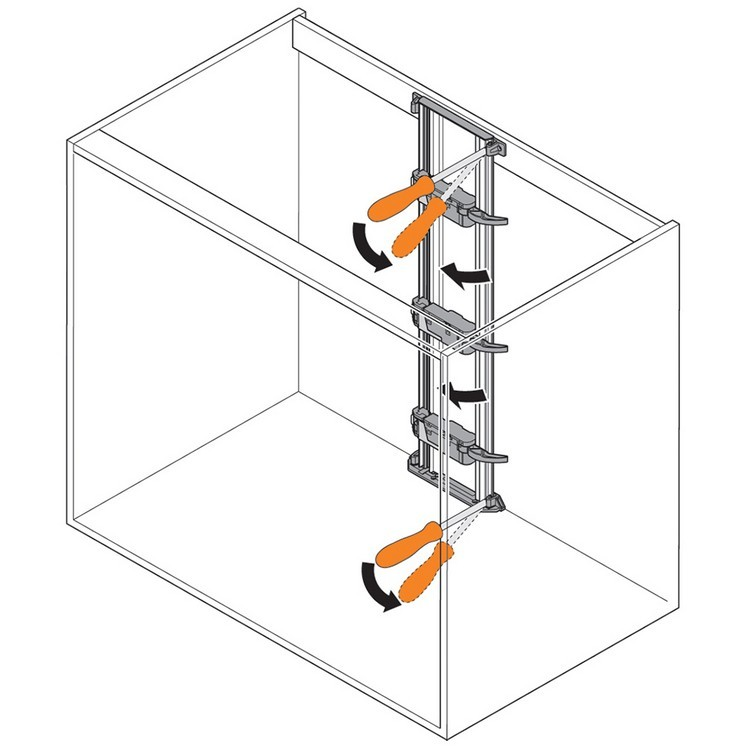 Blum Z10T720AB 28-3/8 SERVO-DRIVE Vertical Aluminum Profile with Cable :: Image 80