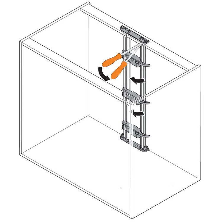 Blum Z10T720AB 28-3/8 SERVO-DRIVE Vertical Aluminum Profile with Cable :: Image 90