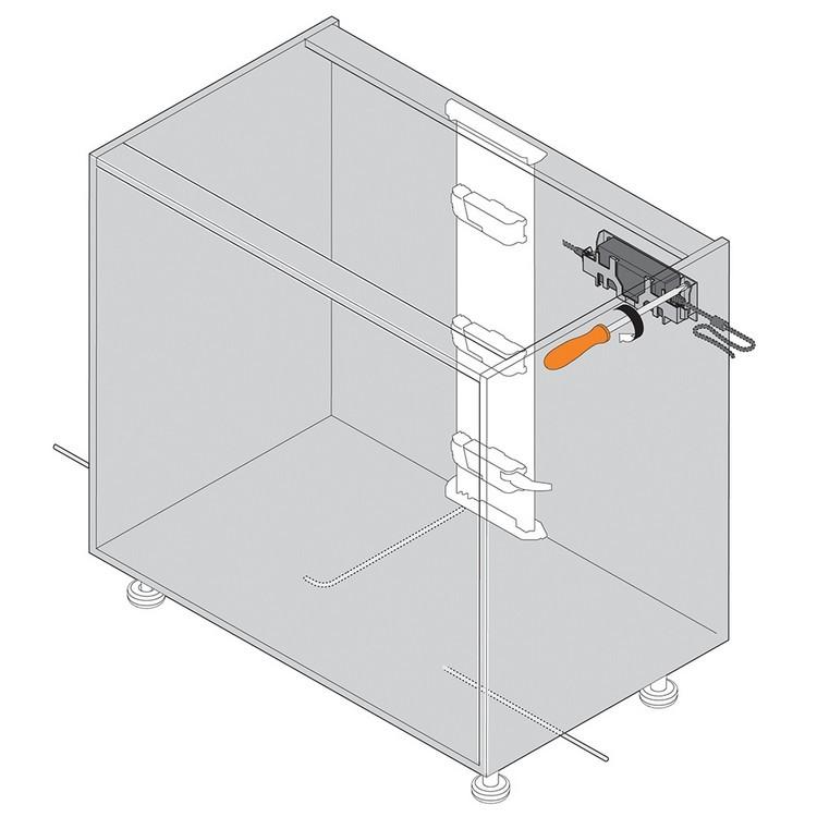 Blum Z10NG120 SERVO-DRIVE Wall Mount for 72 Watt Power Supply :: Image 110