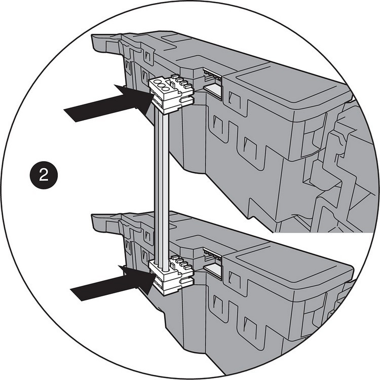 "Blum Z10K008S SERVO-DRIVE Sync Cable, 3"" , White :: Image 80"