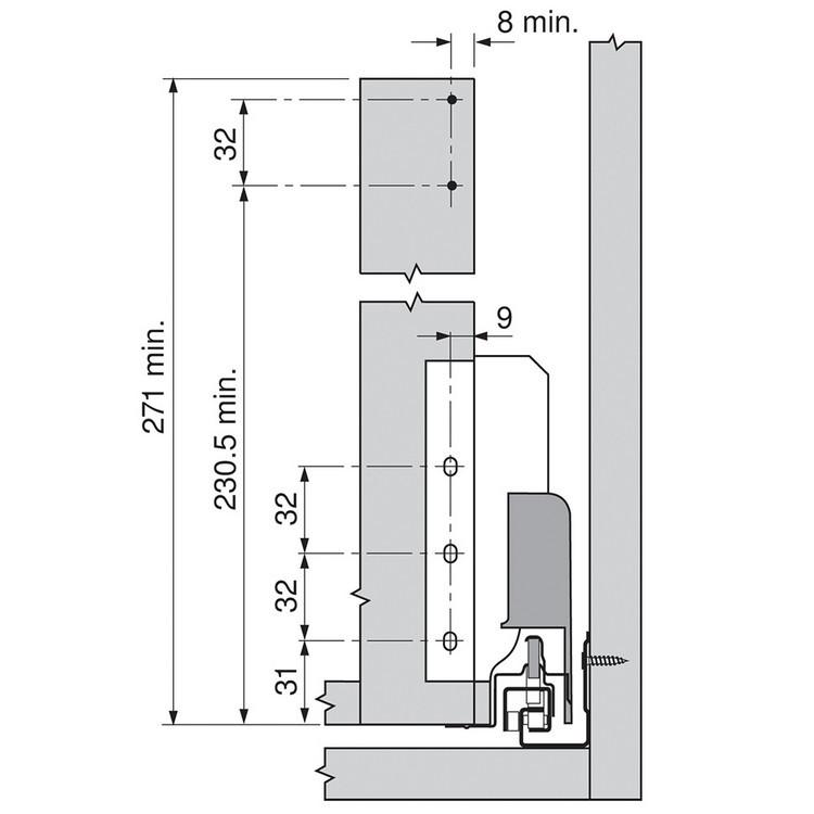 Blum ZRM.5500.US METAFILE Standard Kit, Zinc :: Image 30