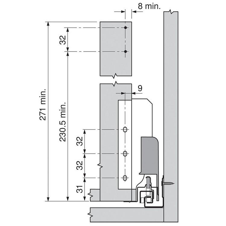 Blum ZRM.5500.US METAFILE Standard Kit, White :: Image 90