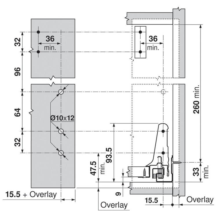 Blum ZRM.5500.US METAFILE Standard Kit, White :: Image 80