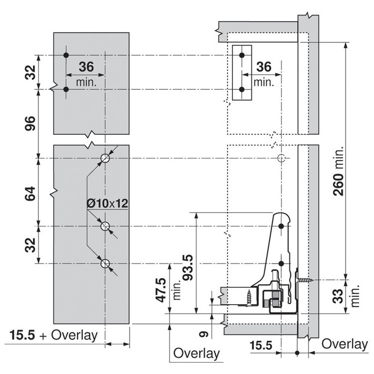 Blum ZRM.5500.US METAFILE Standard Kit, Zinc :: Image 80