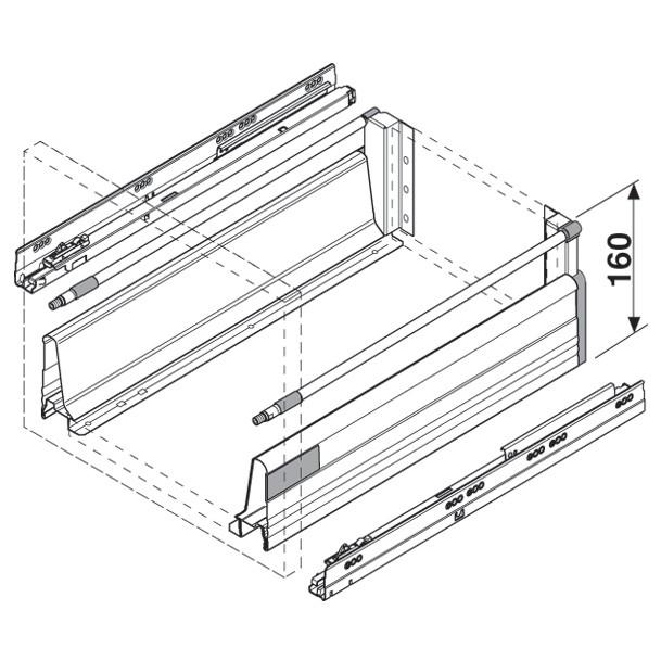 Blum Zrm 5500 Us Metafile Standard Kit Zinc