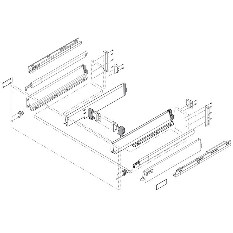 Blum Z30N0002.6ZA TANDEMBOX Center Adapter Set, Dust Gray :: Image 30