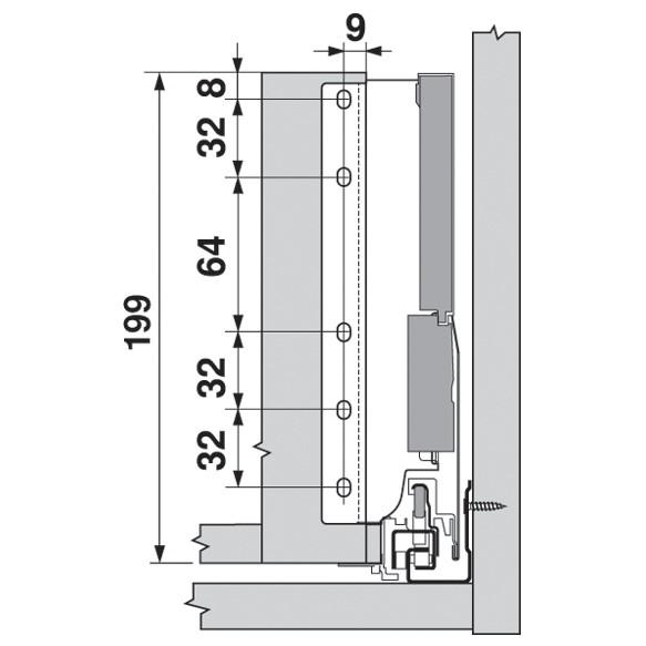 Blum ZSF.532E TANDEMBOX Front Fixing Bracket, EXPANDO, Zinc :: Image 130