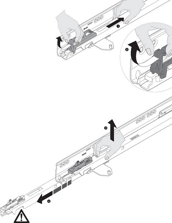 "Blum TANDEMBOX Drawer System 559.5501T-R-L 22"" Steel TANDEMBOX Intivo with TIP-ON/Lock Mechanism, Zinc :: Image 40"