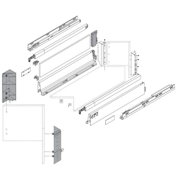 "BLUM Z37A617D 26"" Metal Design Element, Gray :: Image 30"
