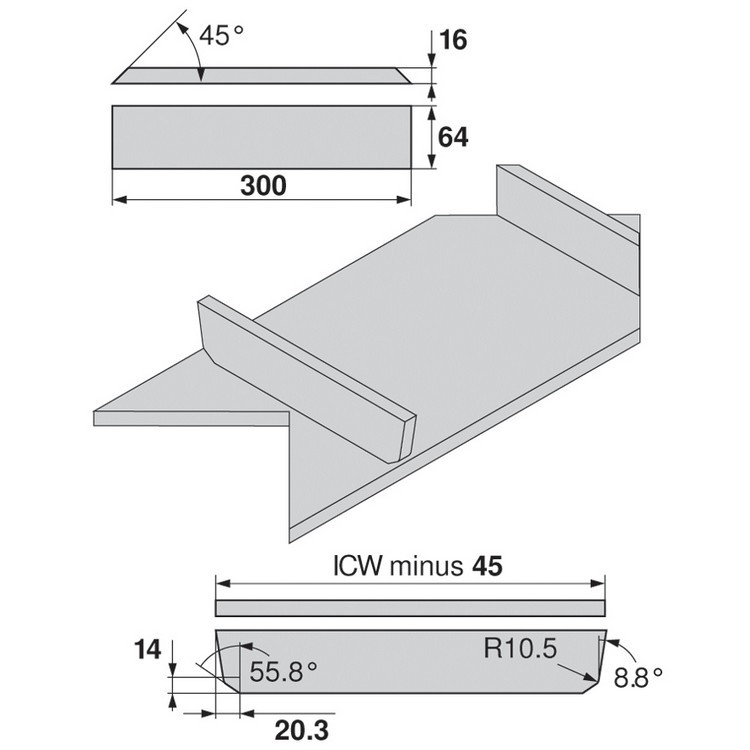 """Blum 359M6002IA 24"""" TANDEMBOX 359M Drawer Side, 3-3/8 Height, 3-3/8 Height, Set (Right & Left) :: Image 110"""