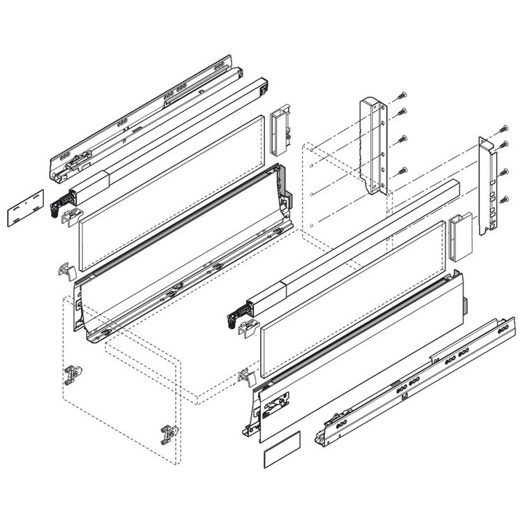 Blum ZSF.3902 TANDEMBOX Front Fixing Bracket, Inserta, Zinc :: Image 220