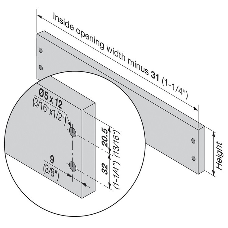 Blum 320K5500C15 22in METABOX 320K Slide, 5in Side Height, 3/4 Ext :: Image 50