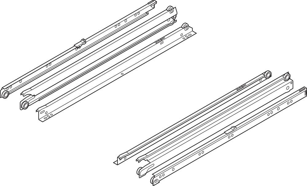 Blum 430E2500 10in Blum Standard 430E Epoxy Drawer Slide, Cream :: Image 160