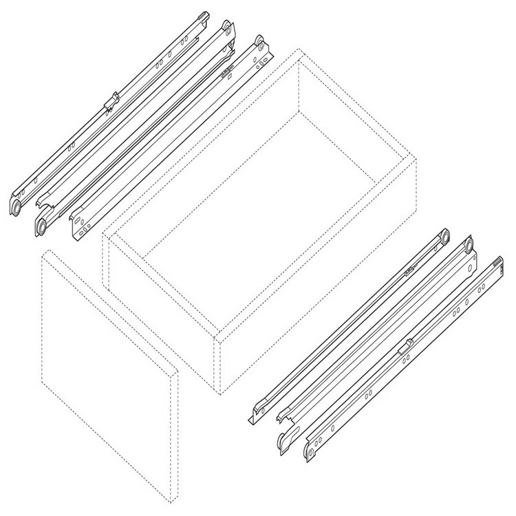 Blum 430E3000V 12in Blum Standard 430E Epoxy Drawer Slide, Cream :: Image 50