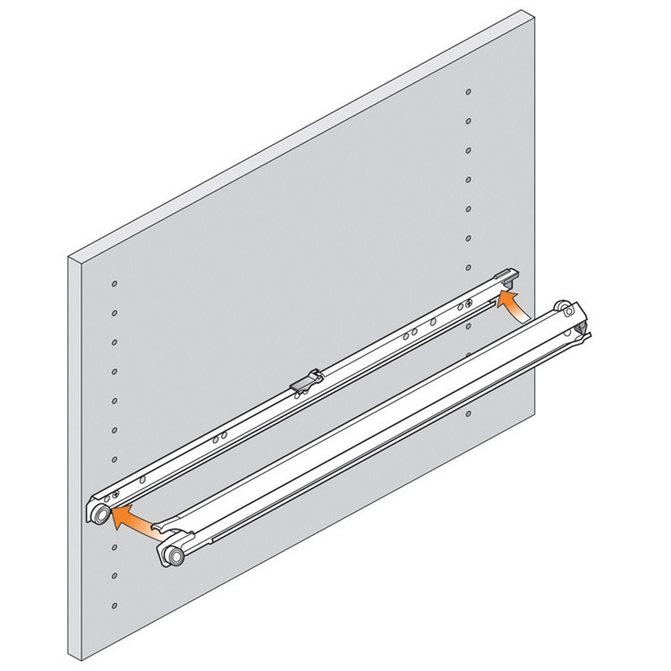 Blum 430E5500V 22in Blum Standard 430E Epoxy Drawer Slide, Cream :: Image 100