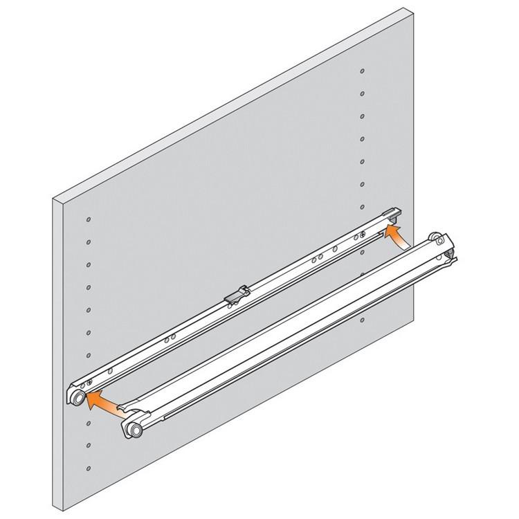 Blum 430E2500 10in Blum Standard 430E Epoxy Drawer Slide, Cream :: Image 100