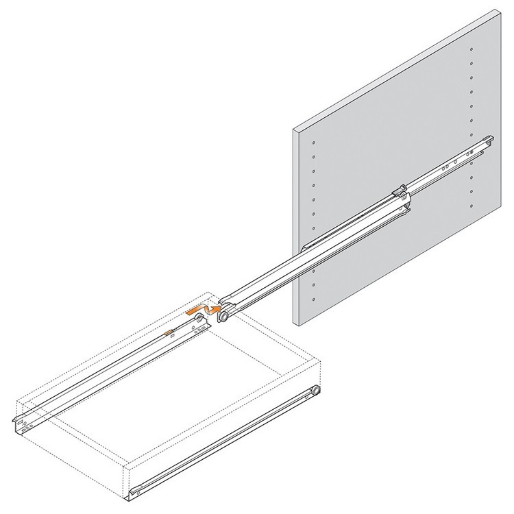 Blum 430E3500V 14in Blum Standard 430E Epoxy Drawer Slide, Cream :: Image 180