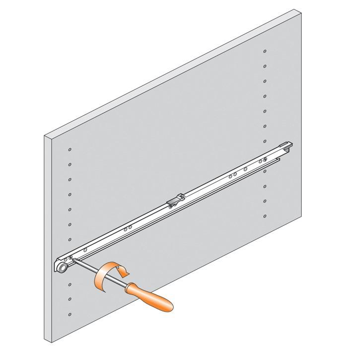 Blum 430E2500 10in Blum Standard 430E Epoxy Drawer Slide, Cream :: Image 240