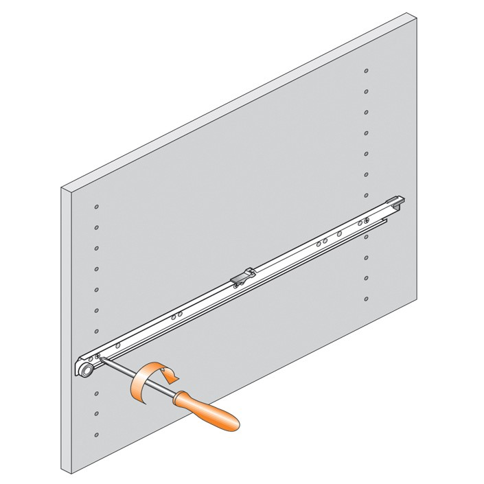 Blum 430E2500 10in Blum Standard 430E Epoxy Drawer Slide, Cream :: Image 120