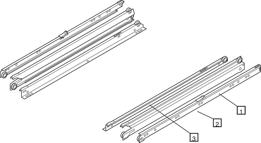 Blum 430E2500 10in Blum Standard 430E Epoxy Drawer Slide, Cream :: Image 130