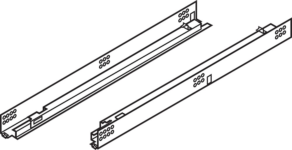 "Blum 552H4570N 18"" TANDEM 552H Undermount Partial Extension Drawer Slide for 5/8 Drawer :: Image 10"