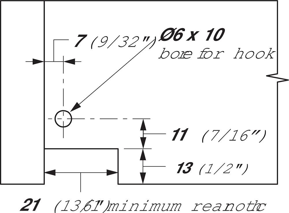 "Blum 552H3810N 15"" TANDEM 552H Undermount Partial Extension Drawer Slide for 5/8 Drawer :: Image 120"