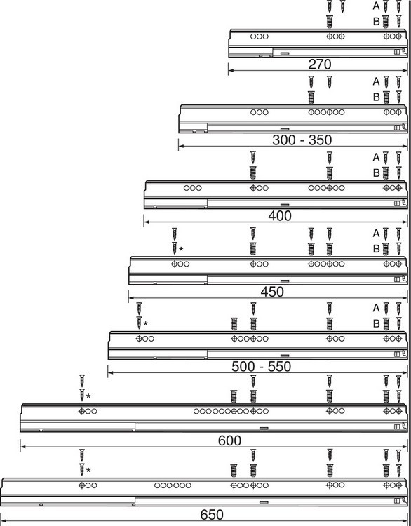 "Blum TANDEMBOX Drawer System 559.5501T-R-L 22"" Steel TANDEMBOX Intivo with TIP-ON/Lock Mechanism, Zinc :: Image 30"