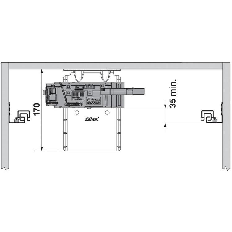 Blum Z10D6252 SERVO-DRIVE Top Bracket with Adapter :: Image 100