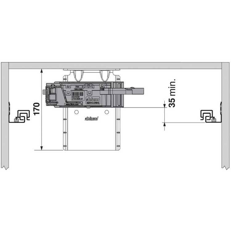 Blum Z10D6252 SERVO-DRIVE Top Bracket with Adapter :: Image 20