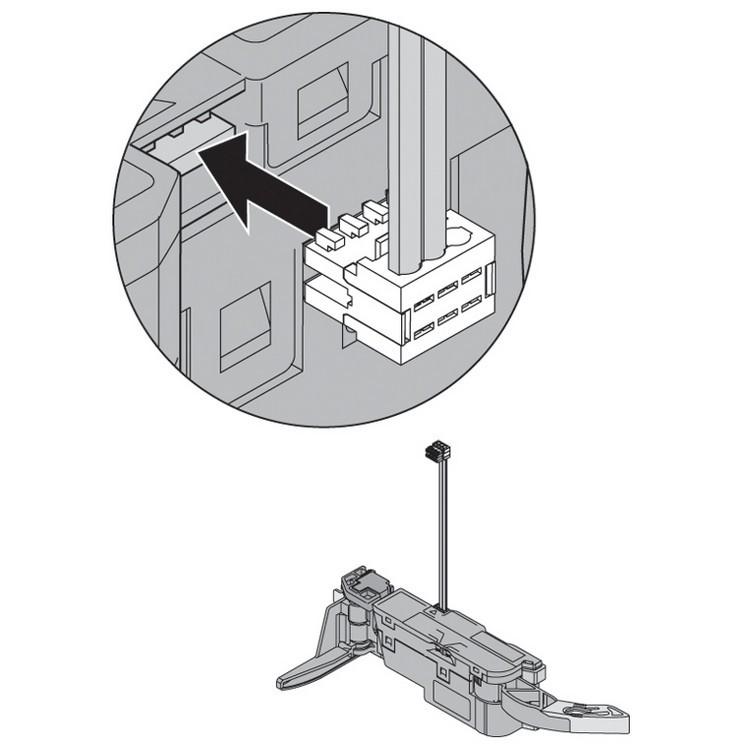 Blum Z10K120S SERVO-DRIVE Sync Cable, 4 Feet, White :: Image 60