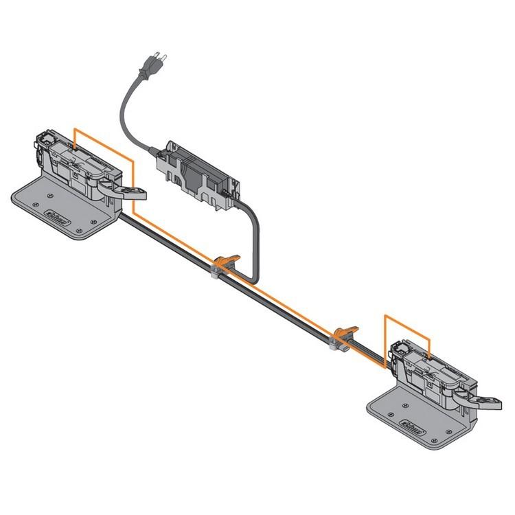 "Blum Z10K008S SERVO-DRIVE Sync Cable, 3"" , White :: Image 50"