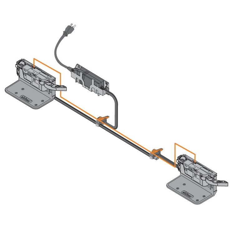 Blum Z10K0009 SERVO-DRIVE Cable Clip, Adhesive or Screw-on :: Image 60