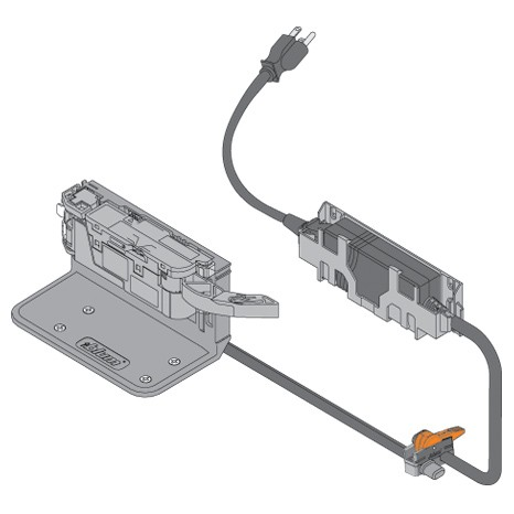 Blum Z10K0009 SERVO-DRIVE Cable Clip, Adhesive or Screw-on :: Image 100