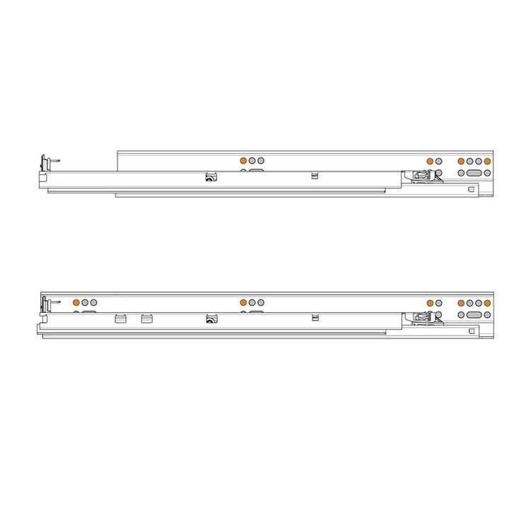 "Blum 563H3050B 12"" TANDEM plus BLUMOTION 563H Undermount Drawer Slide, Full Extension, Soft-Close, for 5/8 Drawer, 90lb :: Image 410"