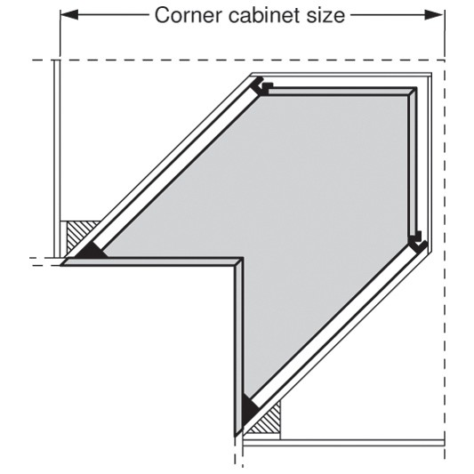 """Blum 569A6860B 27"""" TANDEM plus BLUMOTION 569A Undermount Drawer Slide, Heavy Duty, Full Extension, for 3/4 Drawer, 135lb :: Image 280"""