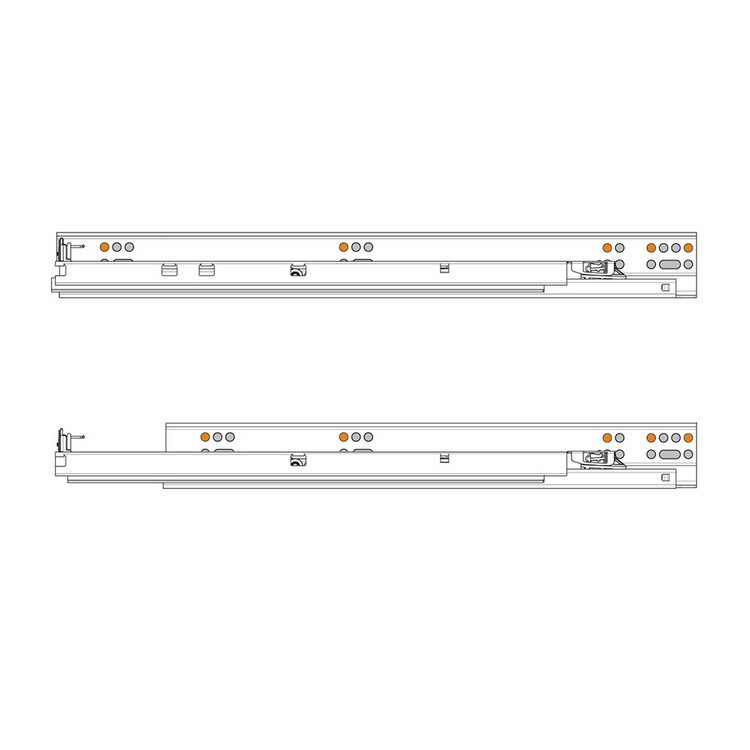 "Blum 569.6860B 27"" TANDEM plus BLUMOTION 569 Undermount Drawer Slide, Heavy Duty, Full Extension, for 5/8 Drawer, 135lb :: Image 380"