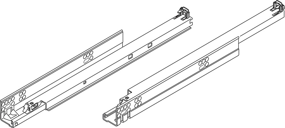"""Blum 569A6860B 27"""" TANDEM plus BLUMOTION 569A Undermount Drawer Slide, Heavy Duty, Full Extension, for 3/4 Drawer, 135lb :: Image 270"""