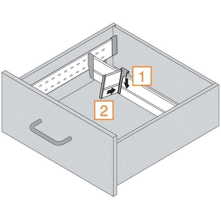 "Blum 552H5330N 21"" TANDEM 552H Undermount Partial Extension Drawer Slide for 5/8 Drawer :: Image 70"