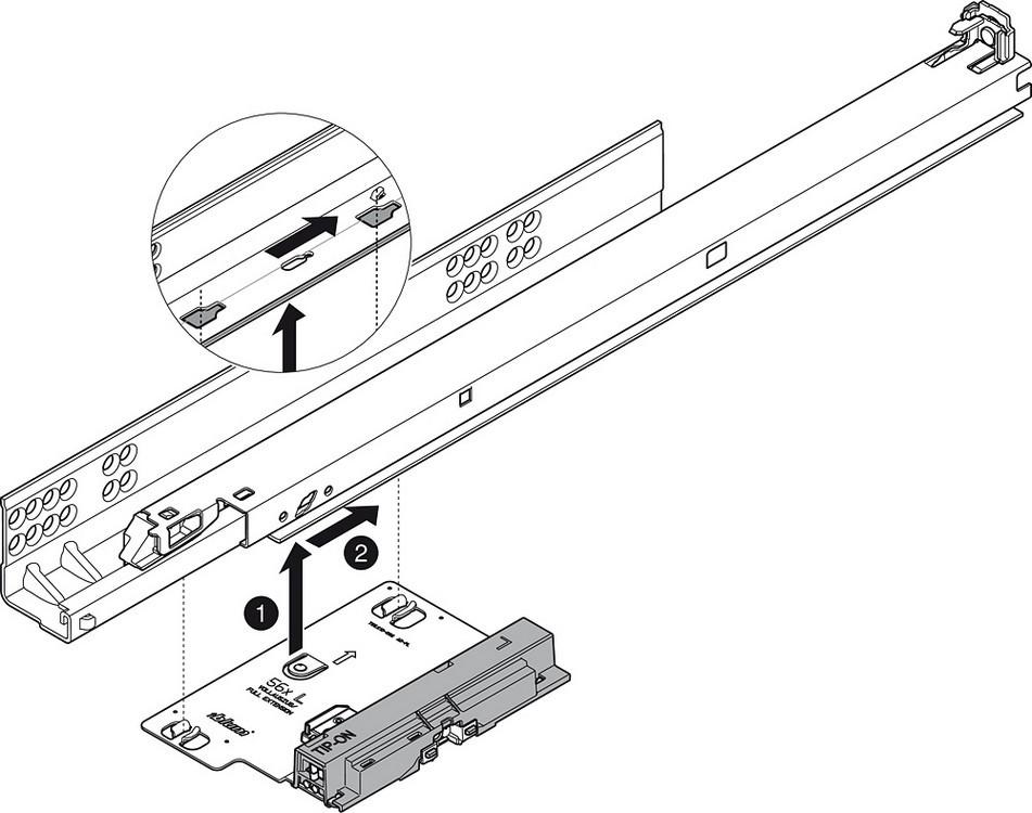 Blum T55.7150S Blum Tip-On for Tandem Plus :: Image 150