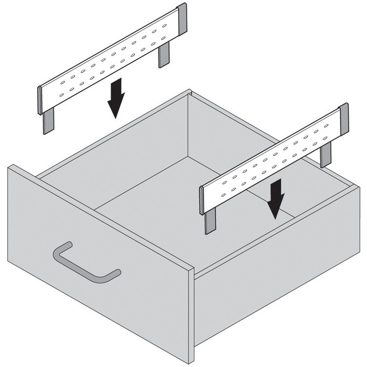 "Blum 562H5330C 21"" TANDEM 562H Undermount Full Extension Drawer Slide for 5/8 Drawer :: Image 90"