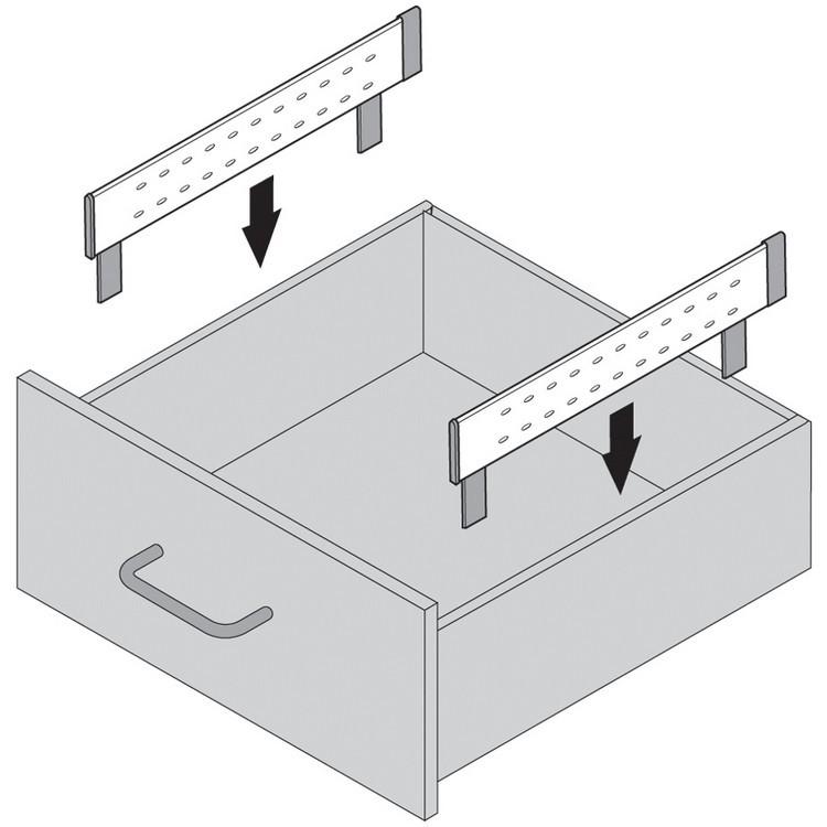"Blum 562H5330C 21"" TANDEM 562H Undermount Full Extension Drawer Slide for 5/8 Drawer :: Image 230"