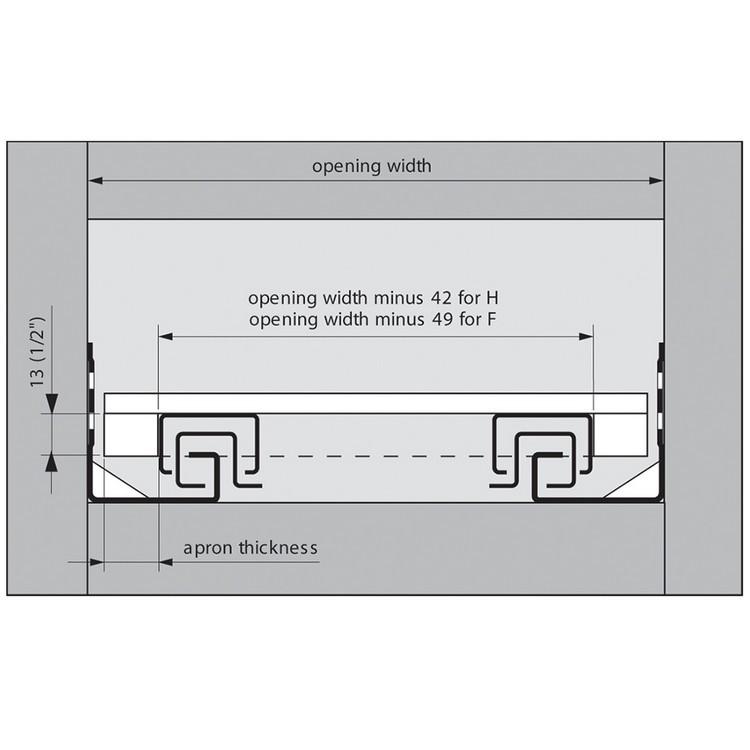 Blum T51.7000.01 Tandem Rear Mounting Block :: Image 70