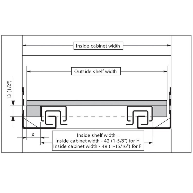 Blum T51.7000.01 Tandem Rear Mounting Block :: Image 60