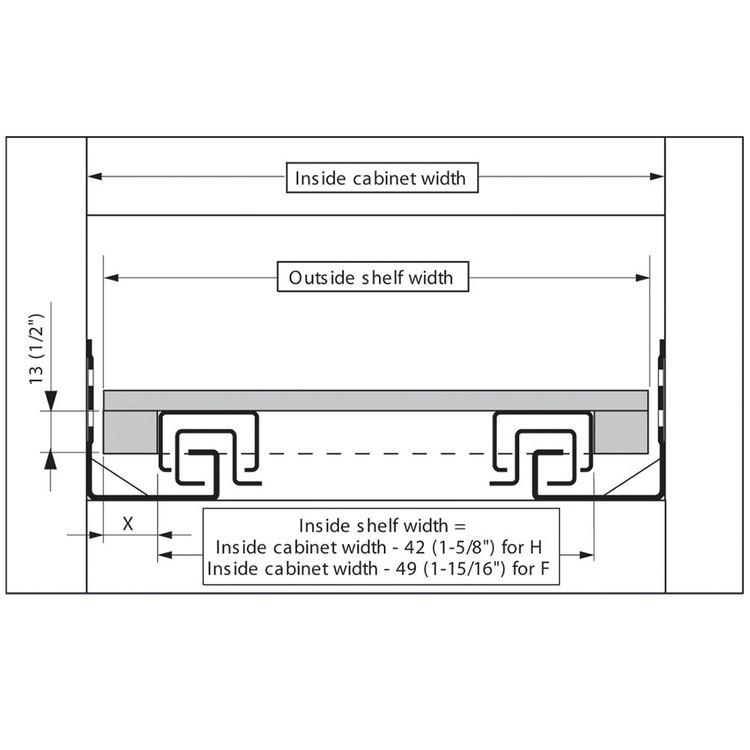 Blum T51.7000.01 Tandem Rear Mounting Block :: Image 20