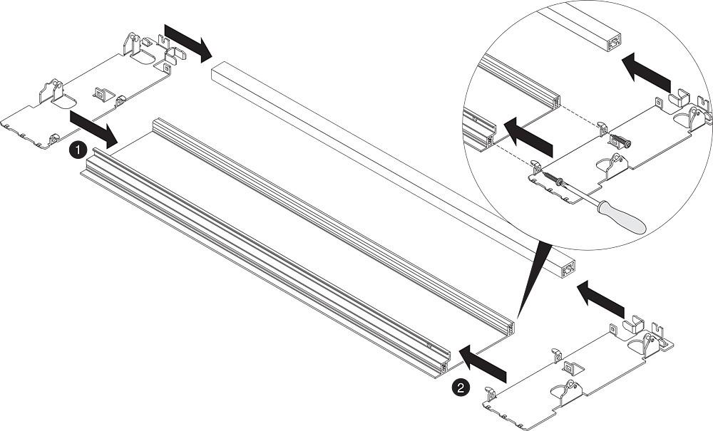 "Blum ZI7.3CS0 LEGRABOX C Height (7"") Interior Front Fixing Bracket, Orion Gray :: Image 40"