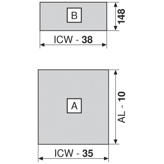 """Blum 753.4501B LEGRABOX 18"""" Cabinet Profile, BLUMOTION, Zinc, Heavy Duty 155lb :: Image 90"""