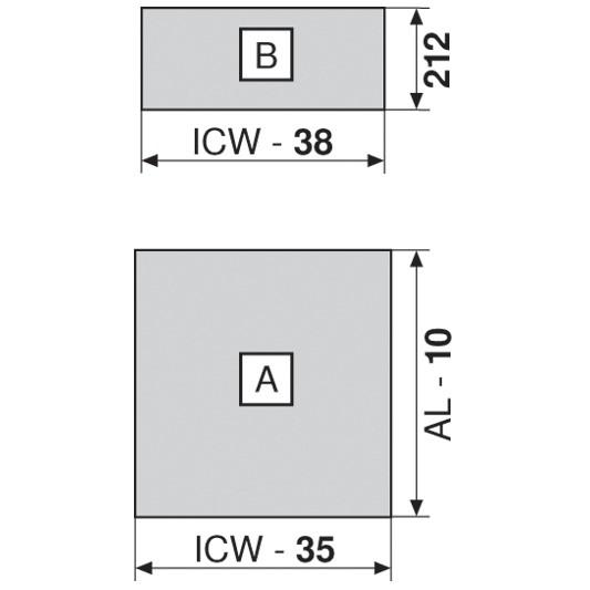 """Blum 753.4501B LEGRABOX 18"""" Cabinet Profile, BLUMOTION, Zinc, Heavy Duty 155lb :: Image 110"""