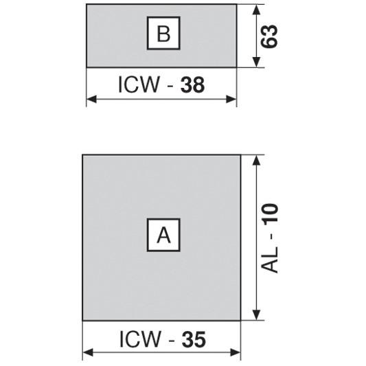 """Blum 753.4501B LEGRABOX 18"""" Cabinet Profile, BLUMOTION, Zinc, Heavy Duty 155lb :: Image 140"""