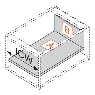"""Blum 753.4501B LEGRABOX 18"""" Cabinet Profile, BLUMOTION, Zinc, Heavy Duty 155lb :: Image 180"""