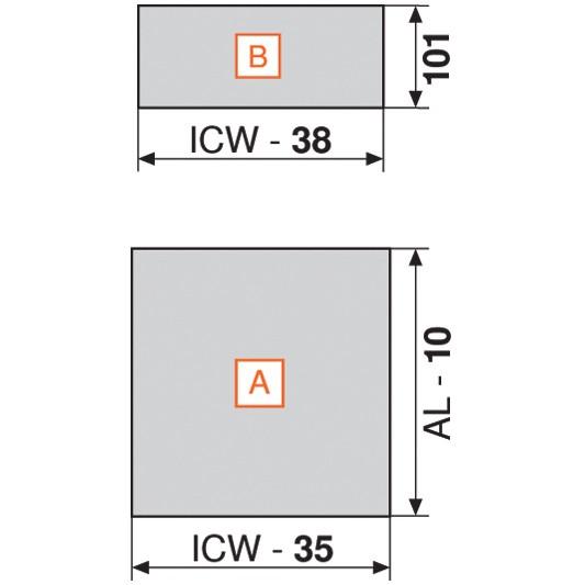 """Blum 753.4501B LEGRABOX 18"""" Cabinet Profile, BLUMOTION, Zinc, Heavy Duty 155lb :: Image 190"""